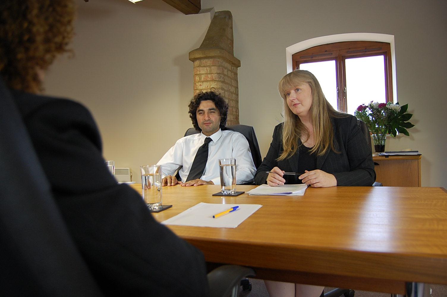 Behavioural Interviewing 1 two interviewers