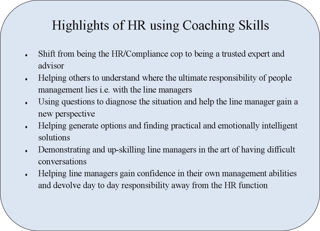 Coachign HIghlights of HR