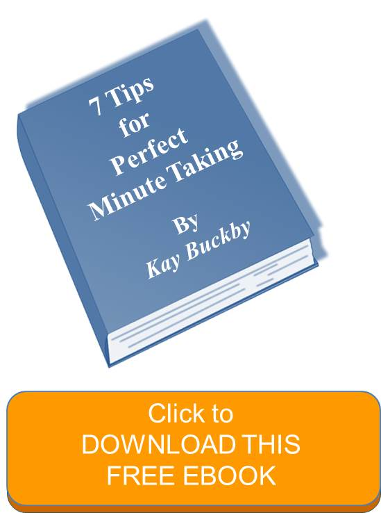 minute taking training tips