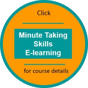 Minute Taking elearning click thru