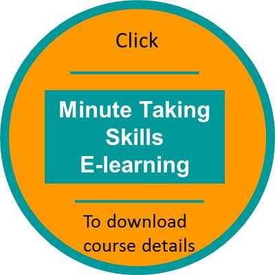Minutes taking skills elearning outline