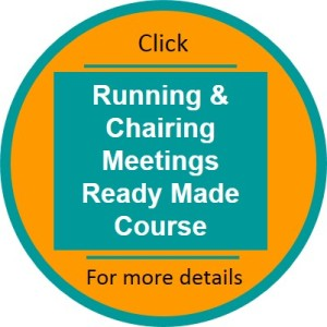 Running and Chairing Meetings ready made course click thru