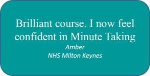 Testimonial Minute Taking Skills Amber