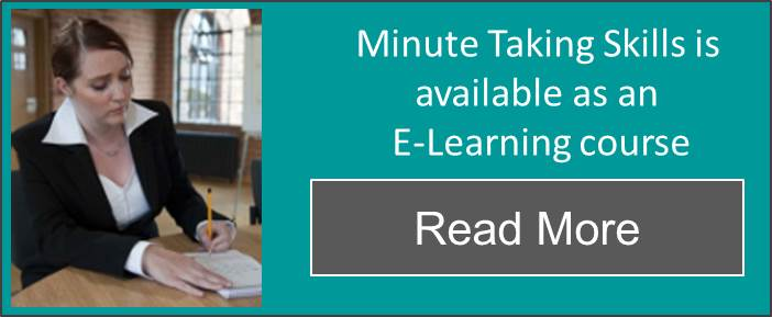 minute taking skills elearning course click through