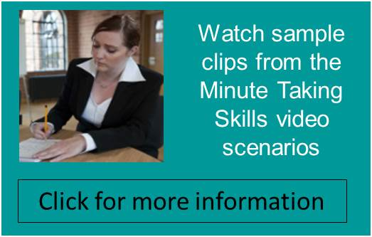 meeting minutes sample clips