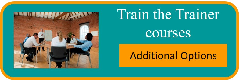Train the trainer additional options